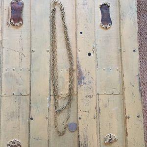 BOHO BRUSHED GOLD LONG NECKLACE OS